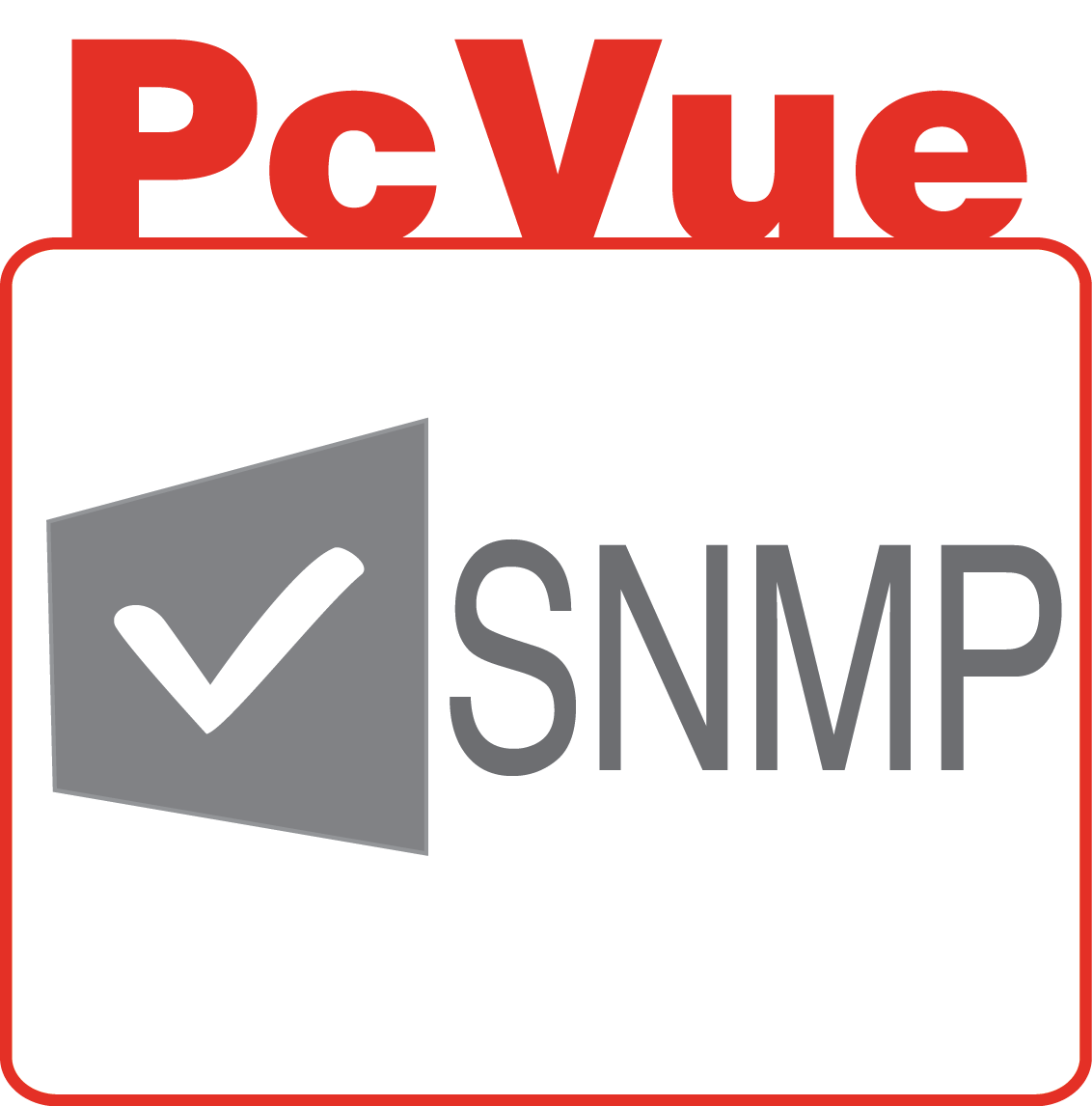 PcVue icon features SNMP